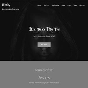 قالب تک صفحه ای Blacky وردپرس