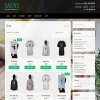 قالب فروشگاهی Sabino وردپرس