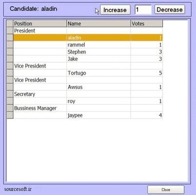 سورس پروژه سیستم رای گیری با ویژوال بیسیک