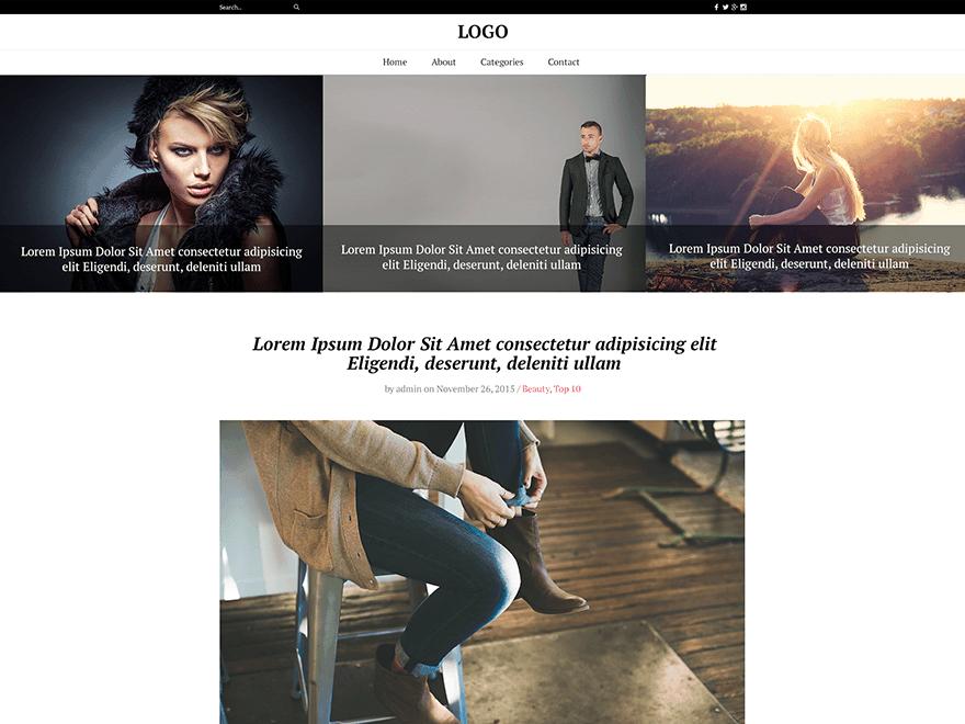 قالب وبلاگی The Fash Blog