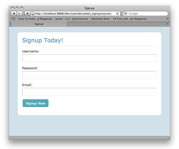 نحوه کدگذاری فرم ثبت نام با تأیید ایمیل